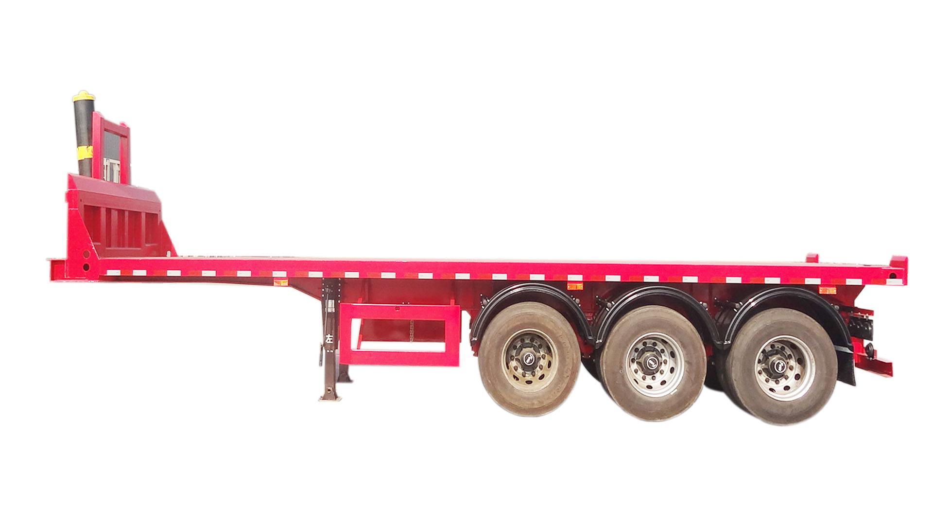 高强钢平板自卸式半挂车