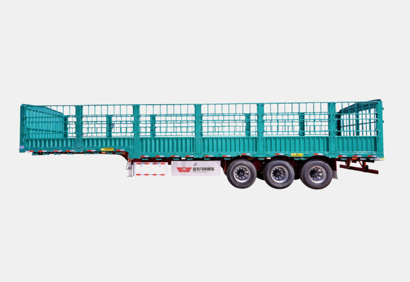 title='High strength steel goose neck Truck Semi Trailer with Fence'